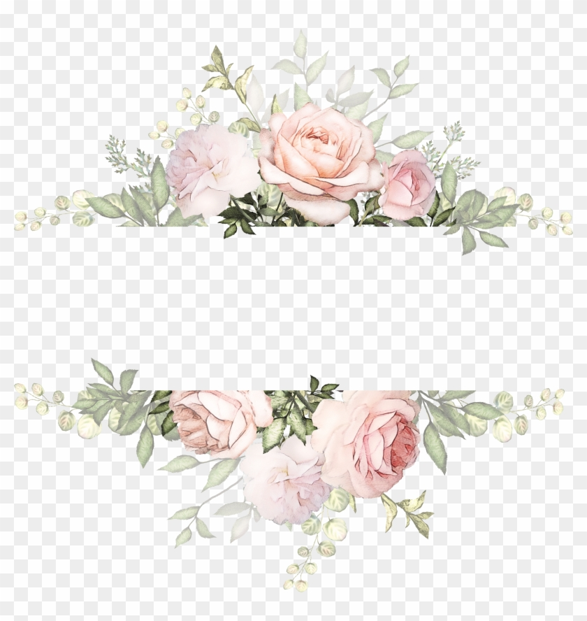 Vintage Watercolor Flowers Background , Png Download.