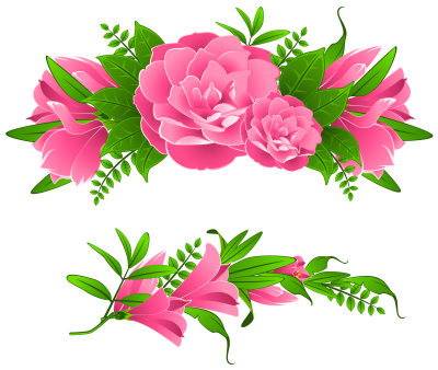Download FLOWERS BORDERS Free PNG transparent image and clipart.