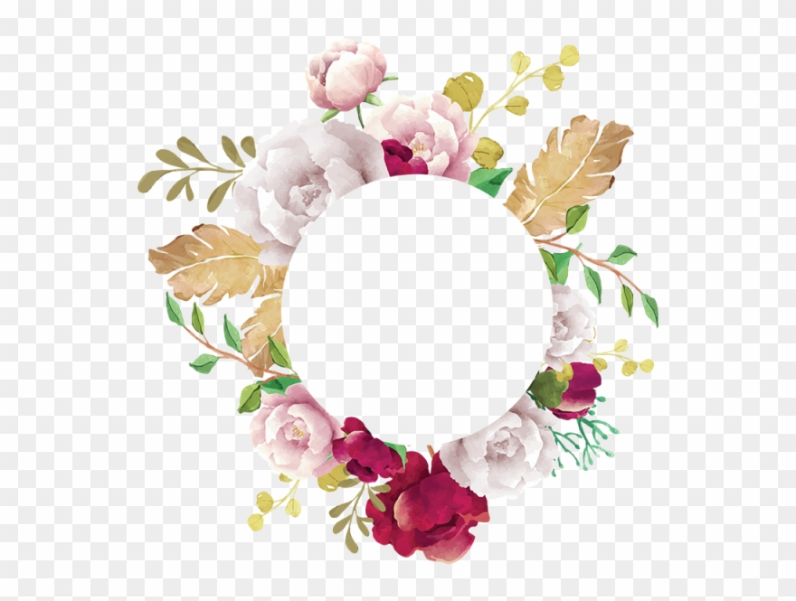 Flower Frame, Flower, Frame, White, Pink, Red, Burgundy.