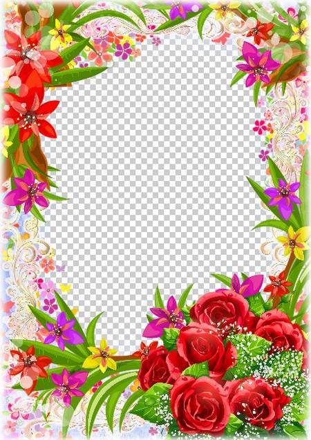 Strikingly Flowers Frames Photoshop Astounding Frame.