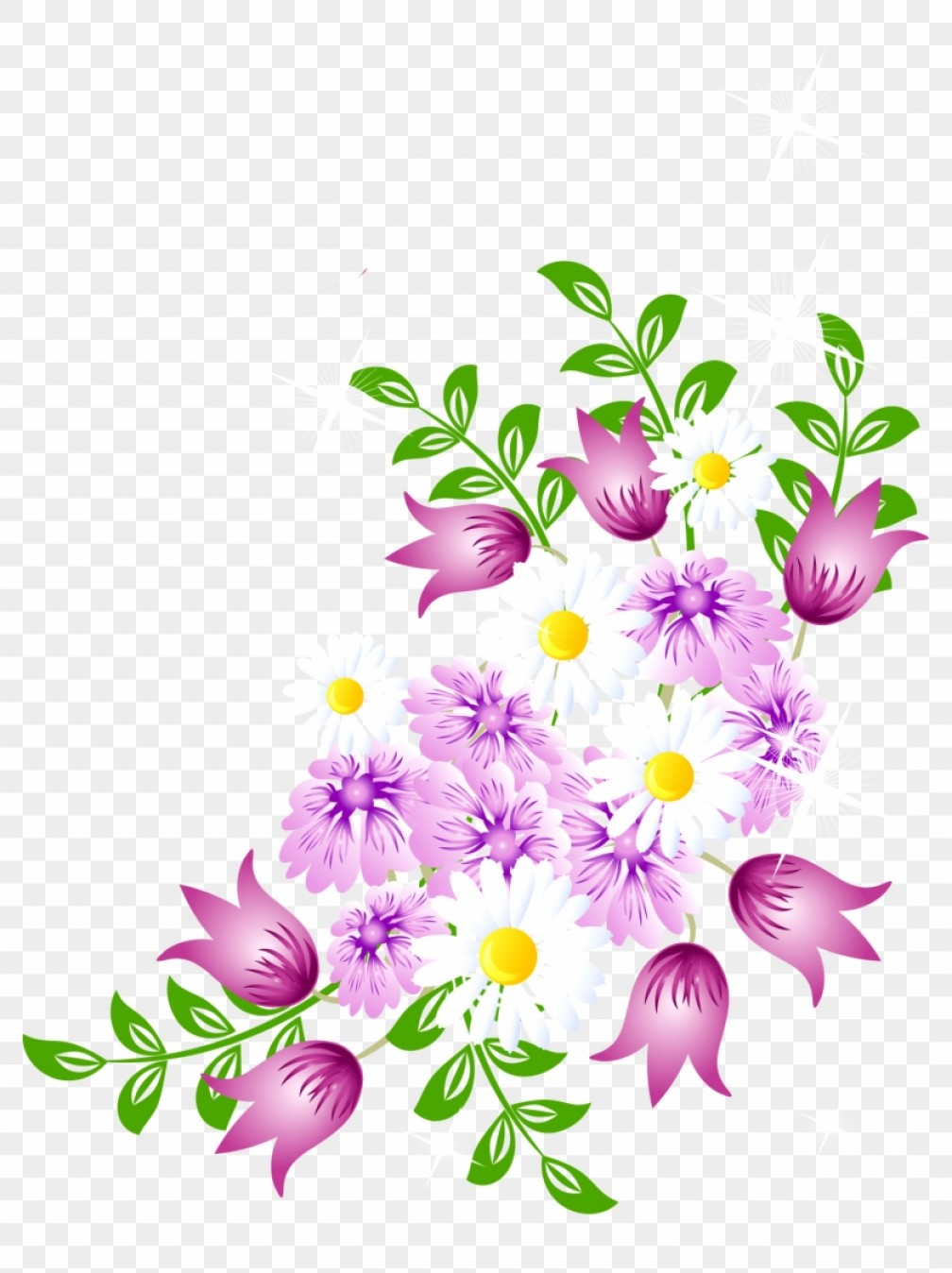 Migkbbihwatercolor Flower Spring Flowers Vector Png.