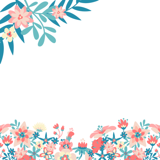 Blue pink flowers background.