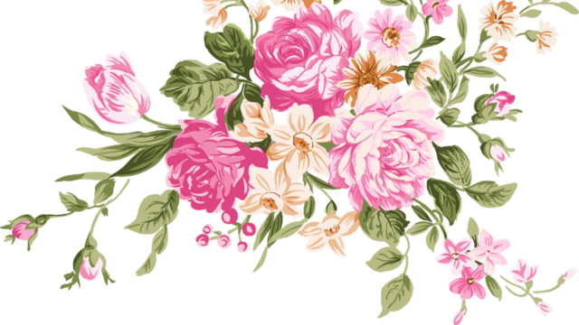 Floral Png Tumblr Vector, Clipart, PSD.