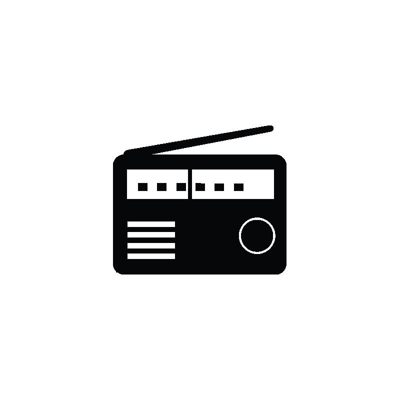FM radio, music, FM recorder, instrument icon.