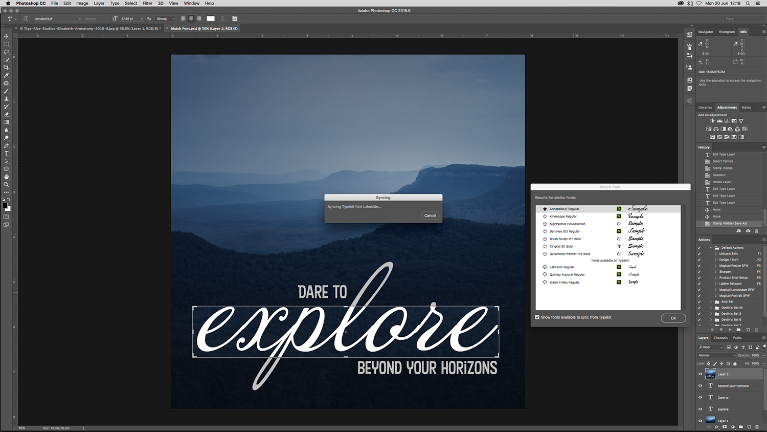 Photoshop tutorial: How to use Photoshop\'s new Match Font.