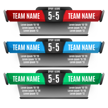 Score Elements Design For And, Soccer, Score PNG and Vector.