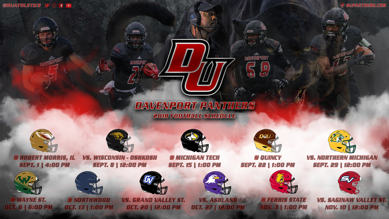 Panther football releases 2018 schedule.