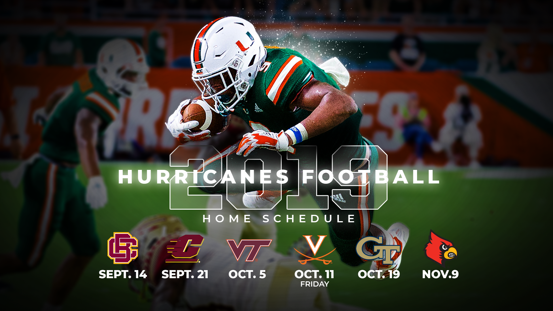 Miami Announces 2019 Football Schedule.