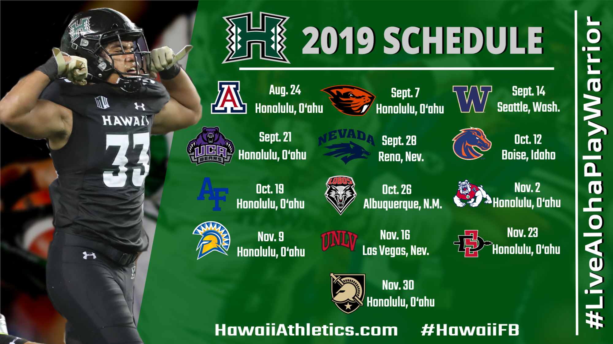 2019 Football Schedule Announced.