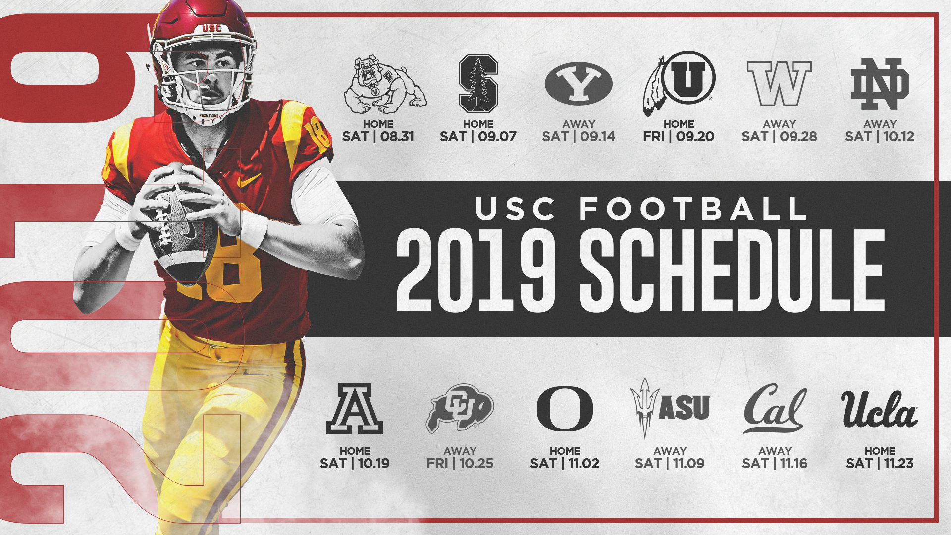 USC\'s 2019 Football Schedule Announced.
