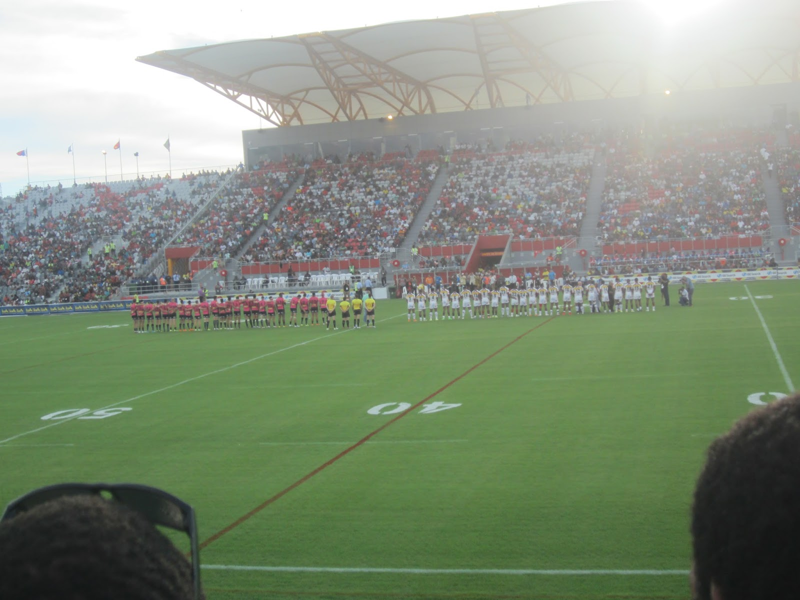 Penrith Panthers applaud PNG\'s National Football Stadium.