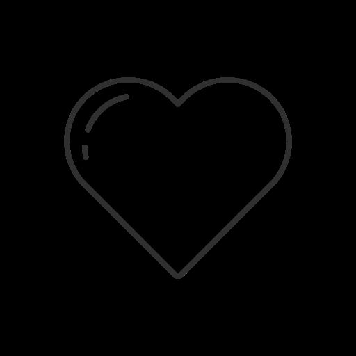 Heart, instagram, like, notification icon.