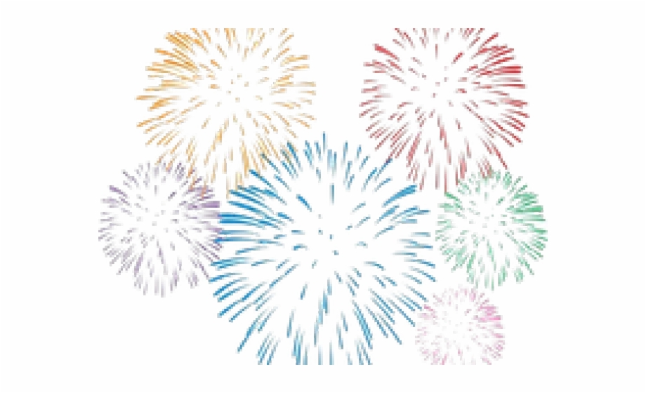 Drawn Fireworks Transparent Background.