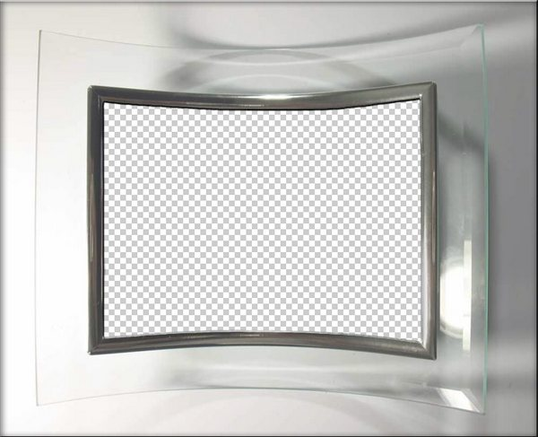 Glass frame PSD, PNG, download. Transparent PNG Frame, PSD.