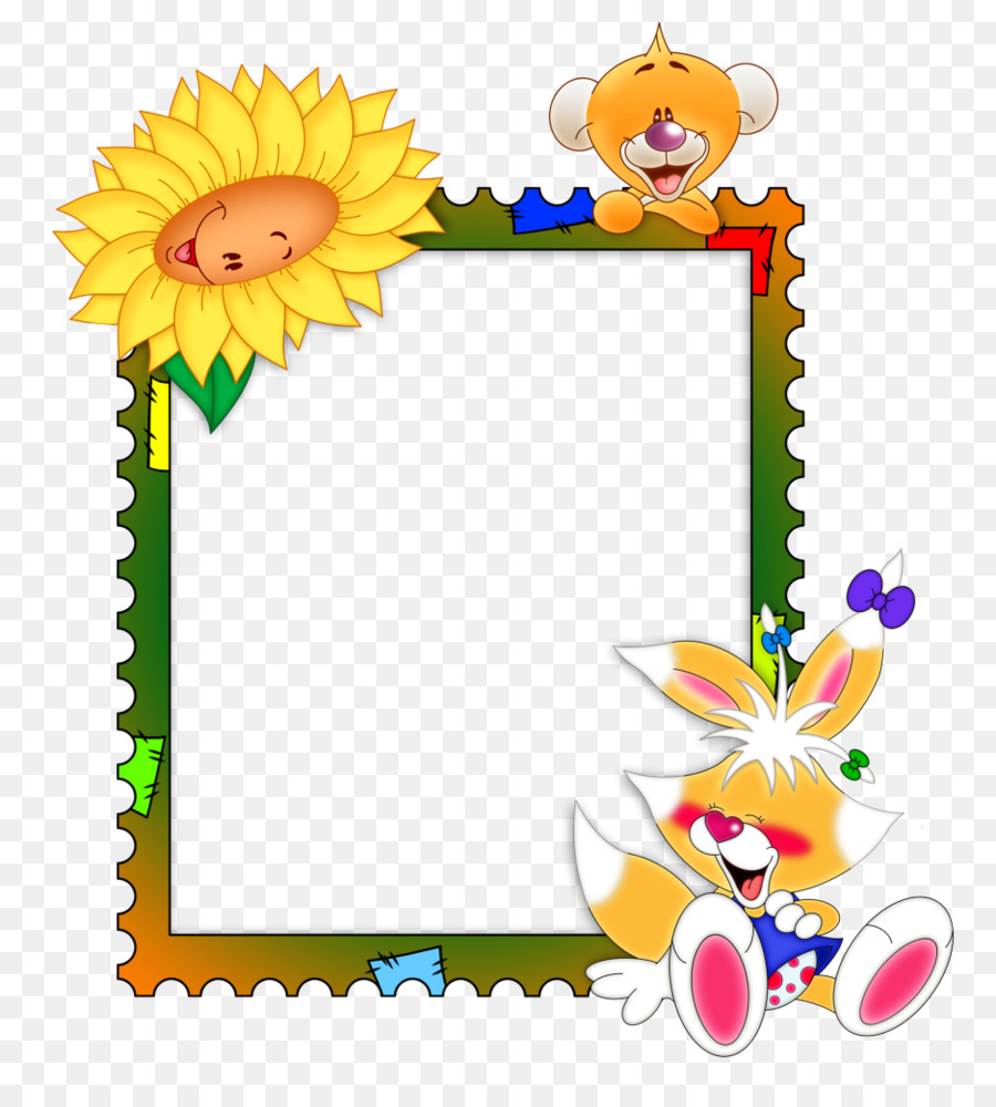 Background Flowers Frame png download.