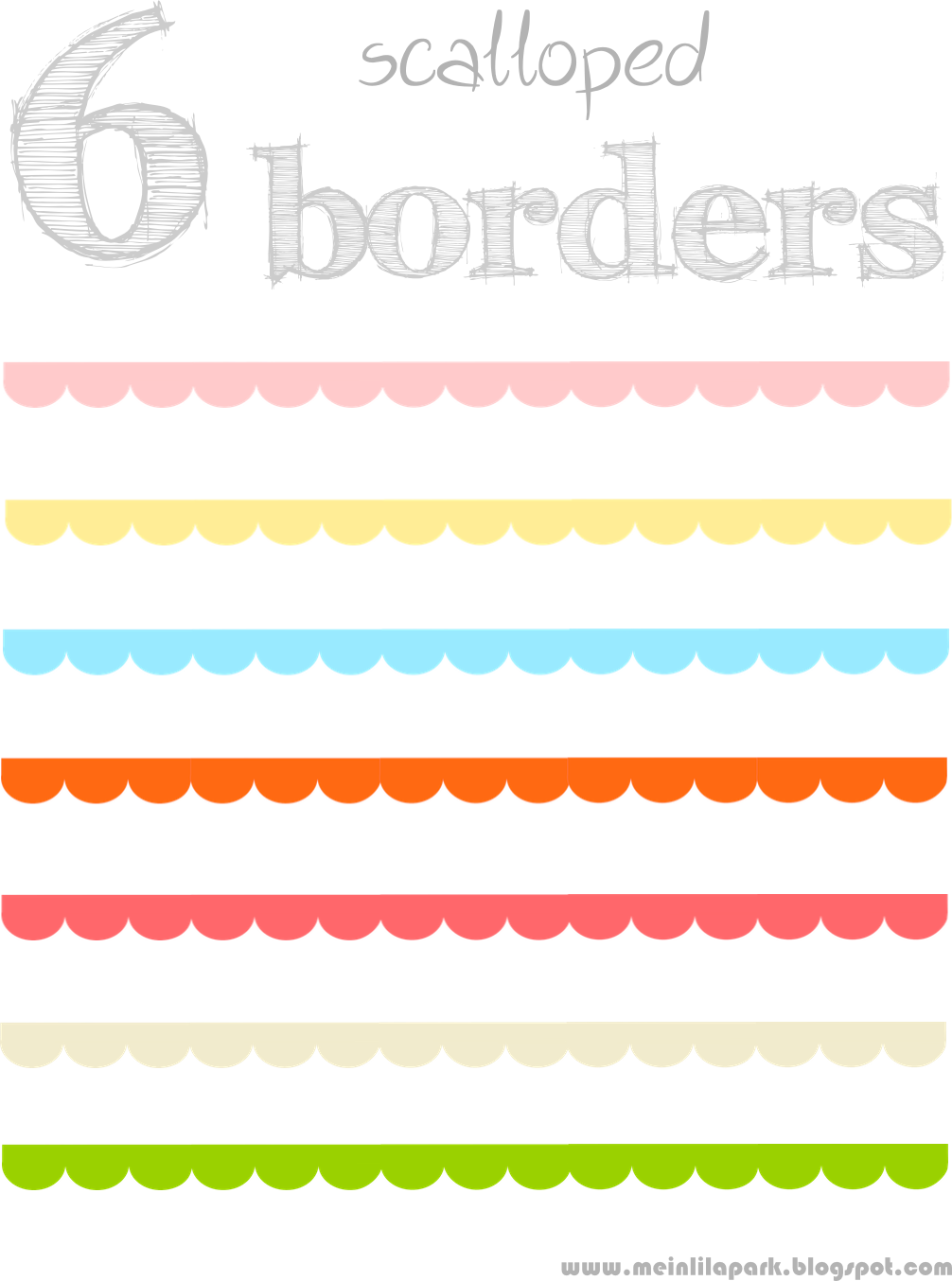 free digital scalloped scrapbooking border png\'s.