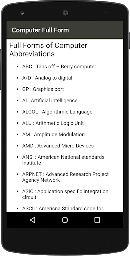 Computer Full Form : A to Z 2.0 apk.