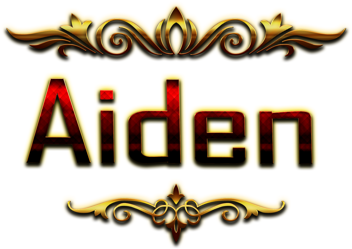 Download Aiden Decorative Name Png.