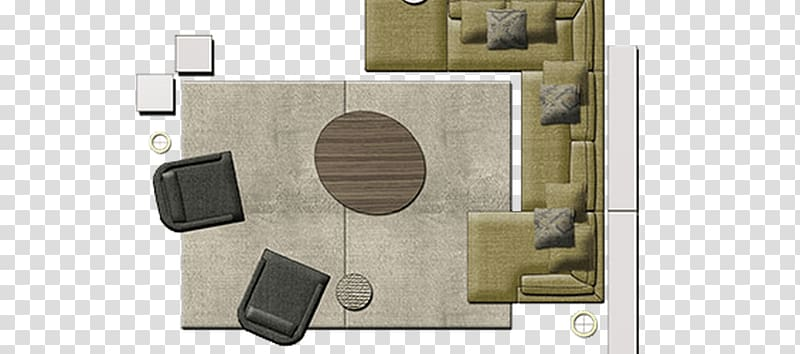 Illustration of sofa and sofa chair, Couch Table Furniture.