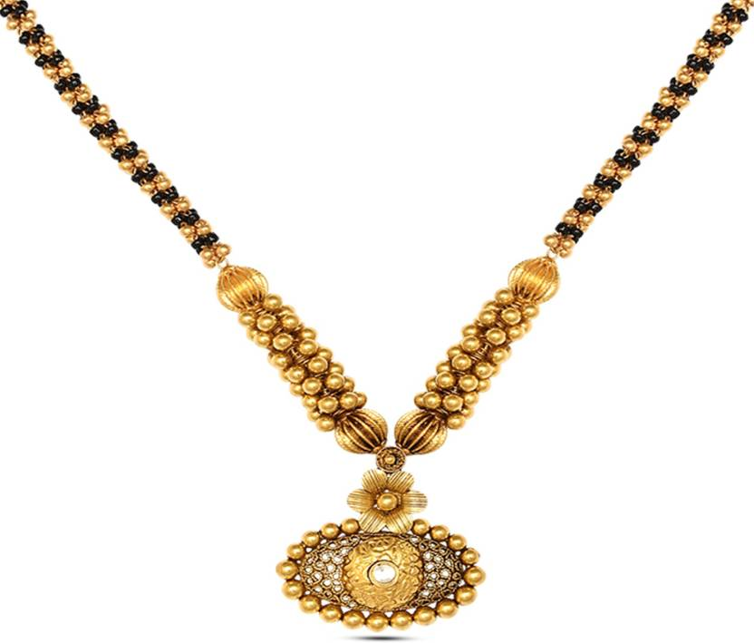 P.N.Gadgil Jewellers Antique Design Thushi 22kt Cubic.
