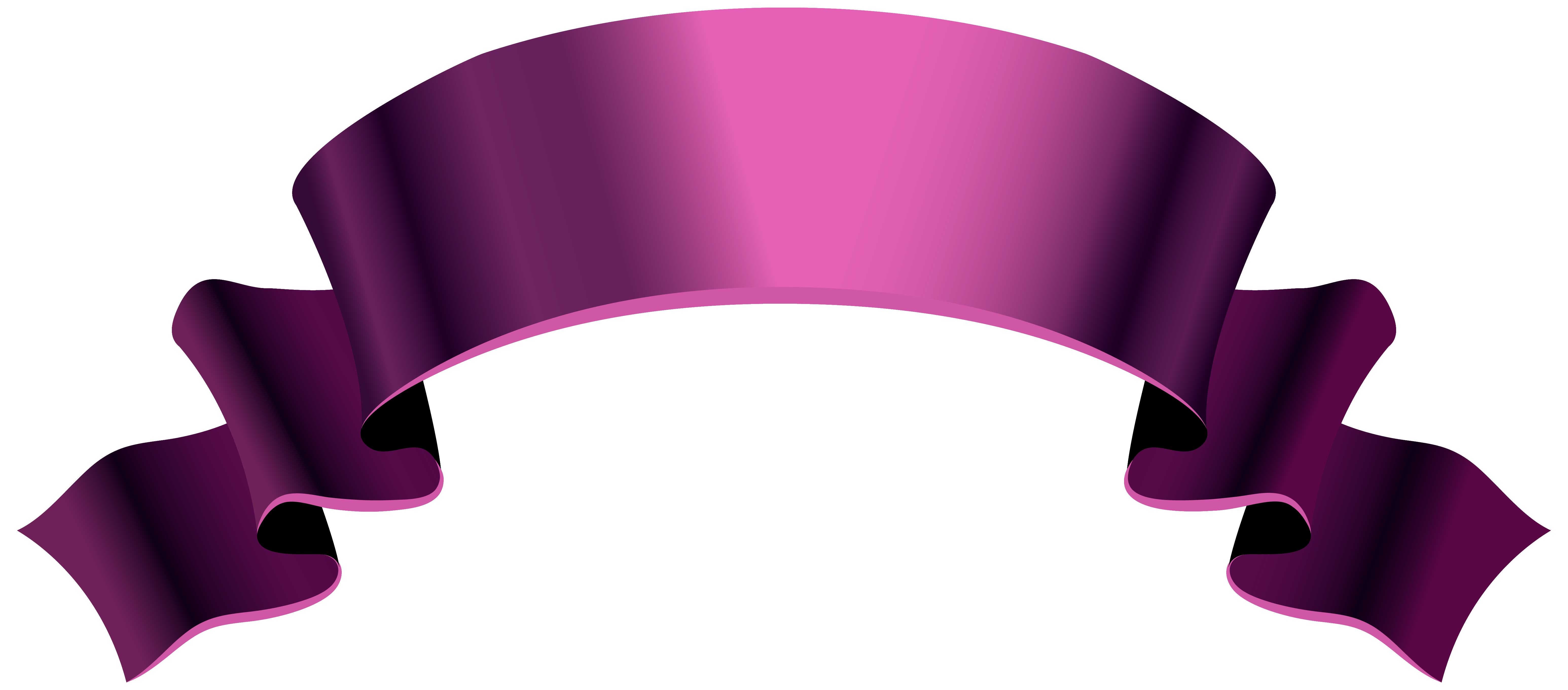 Pink Banner PNG Clipart Image.