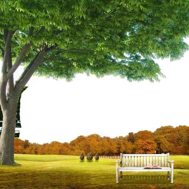 HD Garden Background Scene With.