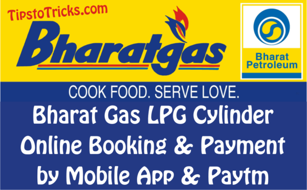 Bharat Gas LPG Cylinder Booking & Payment by Mobile App.