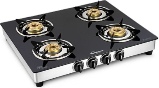 Sunflame astra 4 Burner Manual Gas Stove price in India.