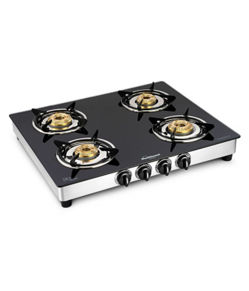 Sunflame astra 4 Burner Manual Gas Stove.