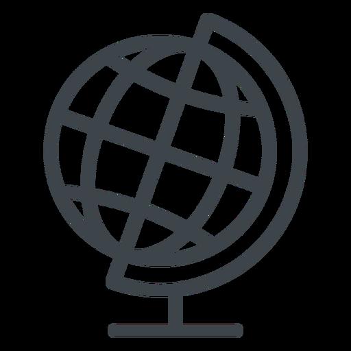 Geography globe flat school icon.