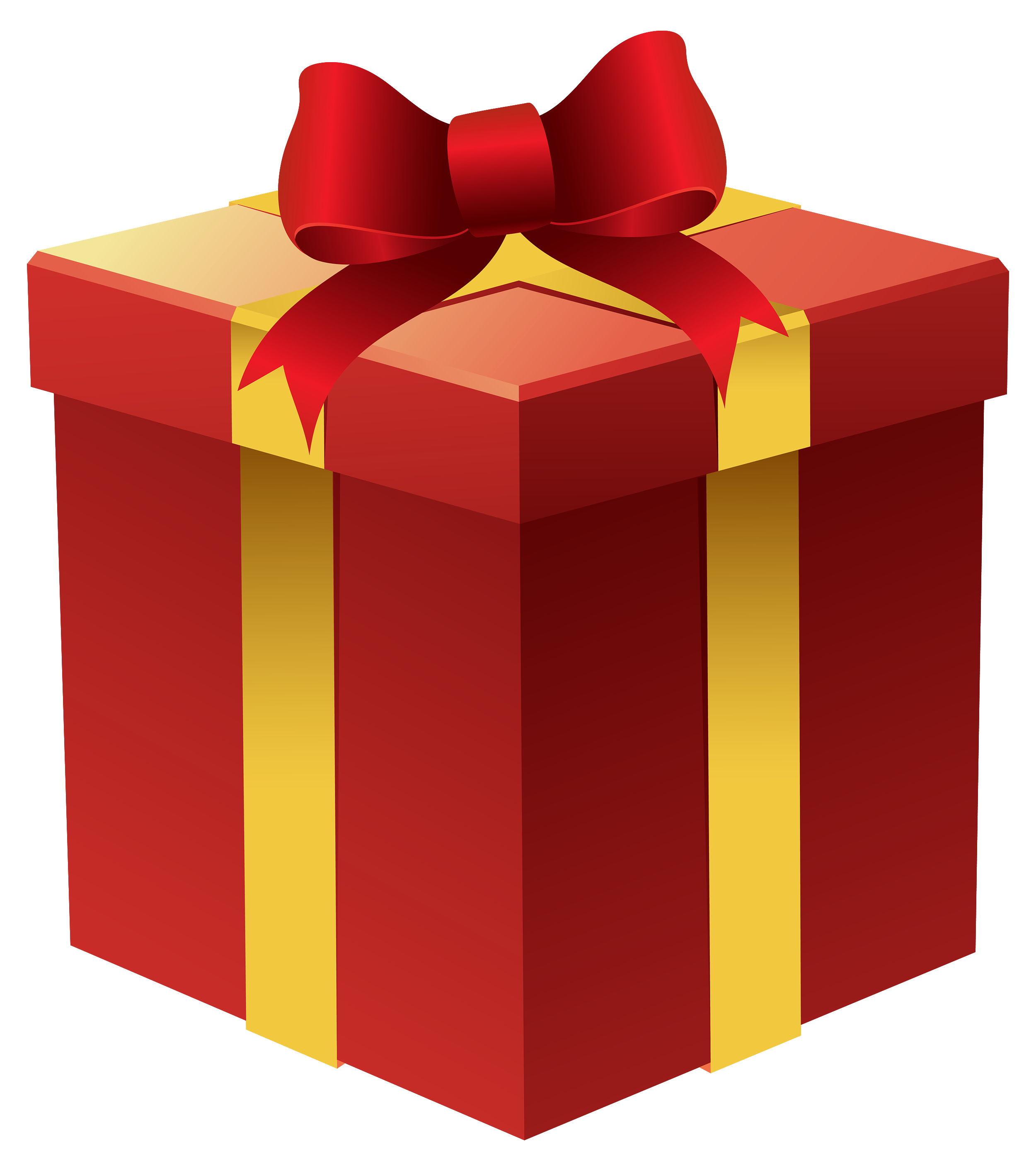Gift Box in Red PNG Clipart.