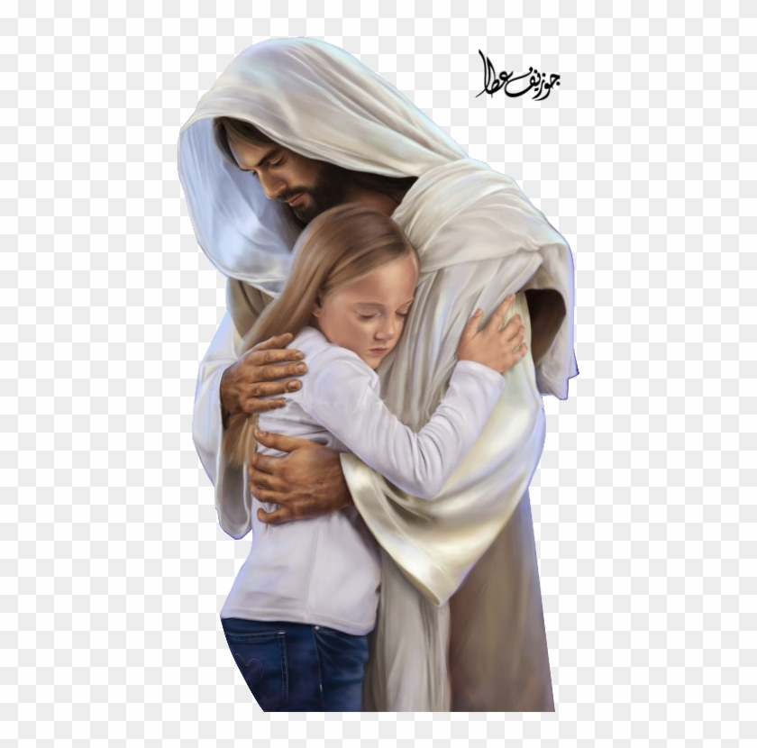 Picture Of Christ Hugging A Girl.