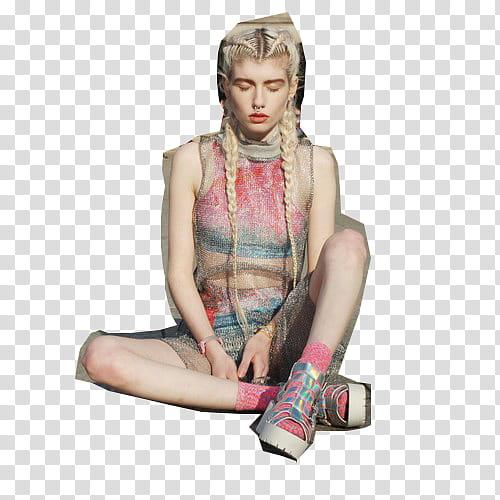 Girl Model, woman wearing pink sleeveless crop.