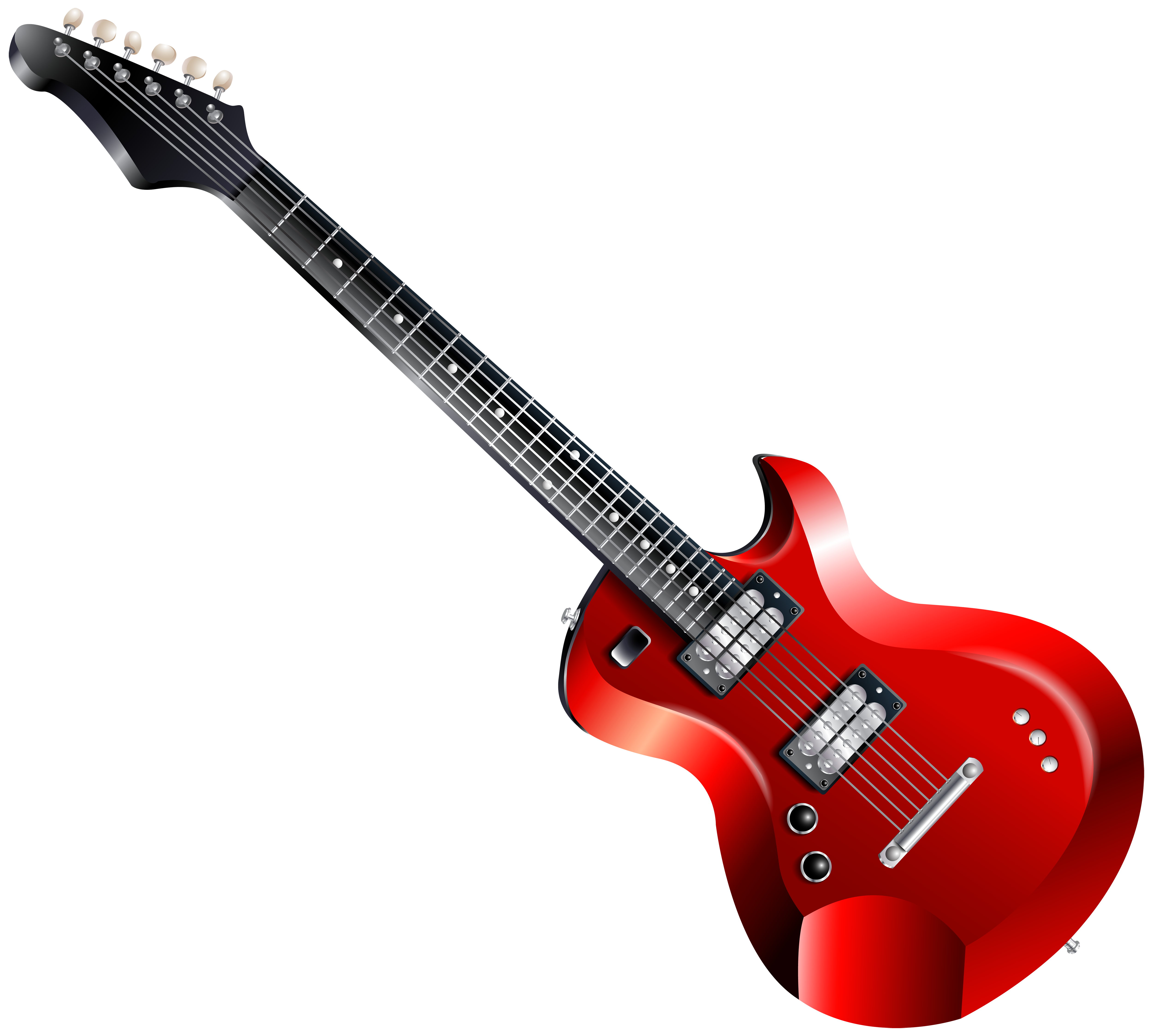 Red Electric Guitar PNG Clipart.