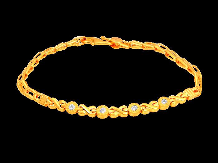 Dots and link gold bracelet.