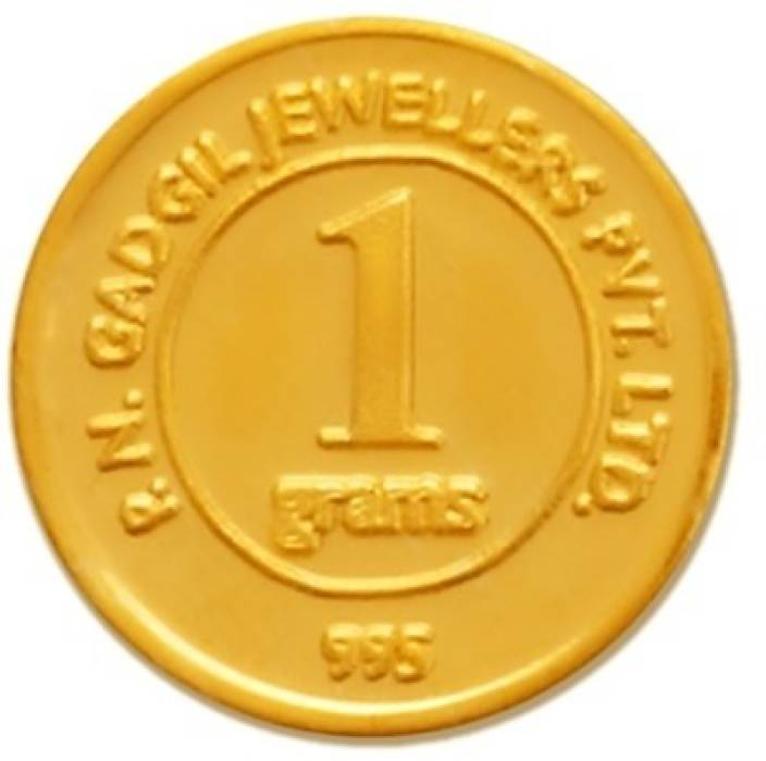 P.N.Gadgil Jewellers PNG 24 (995) K 1 g Gold Coin.