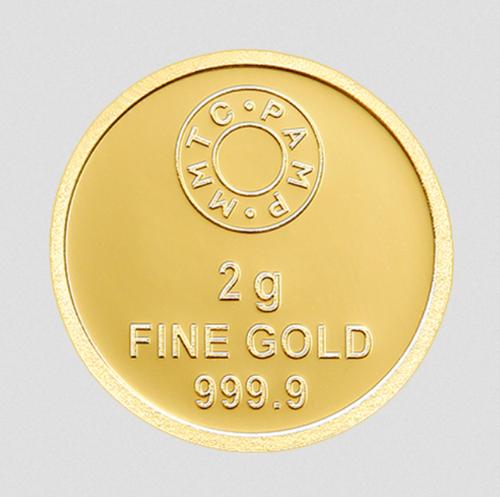 2 Gm Gold Coin Lotus.