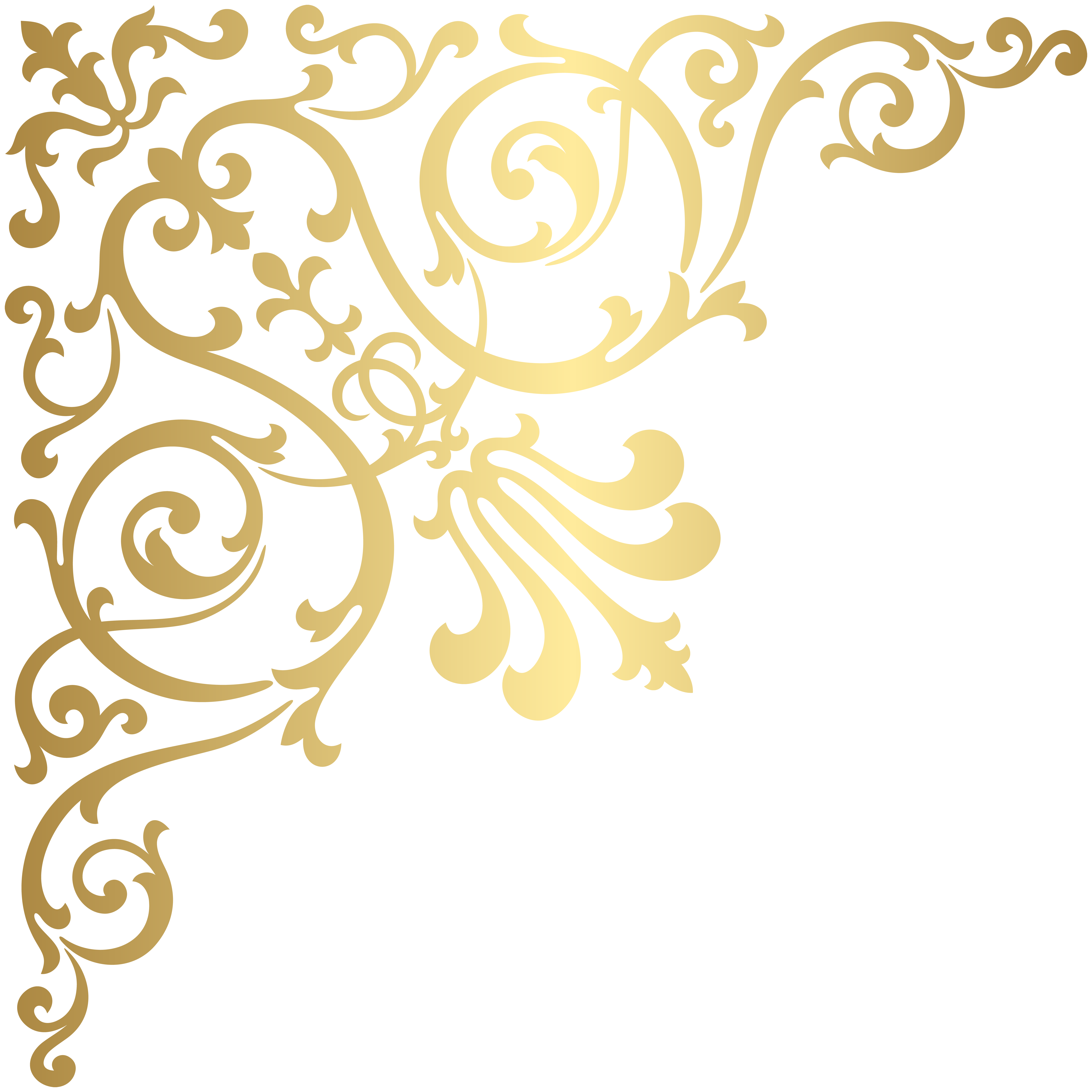 Gold Corner Transparent PNG Clip Art.