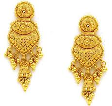 Gold Earrings in Kolkata, West Bengal.