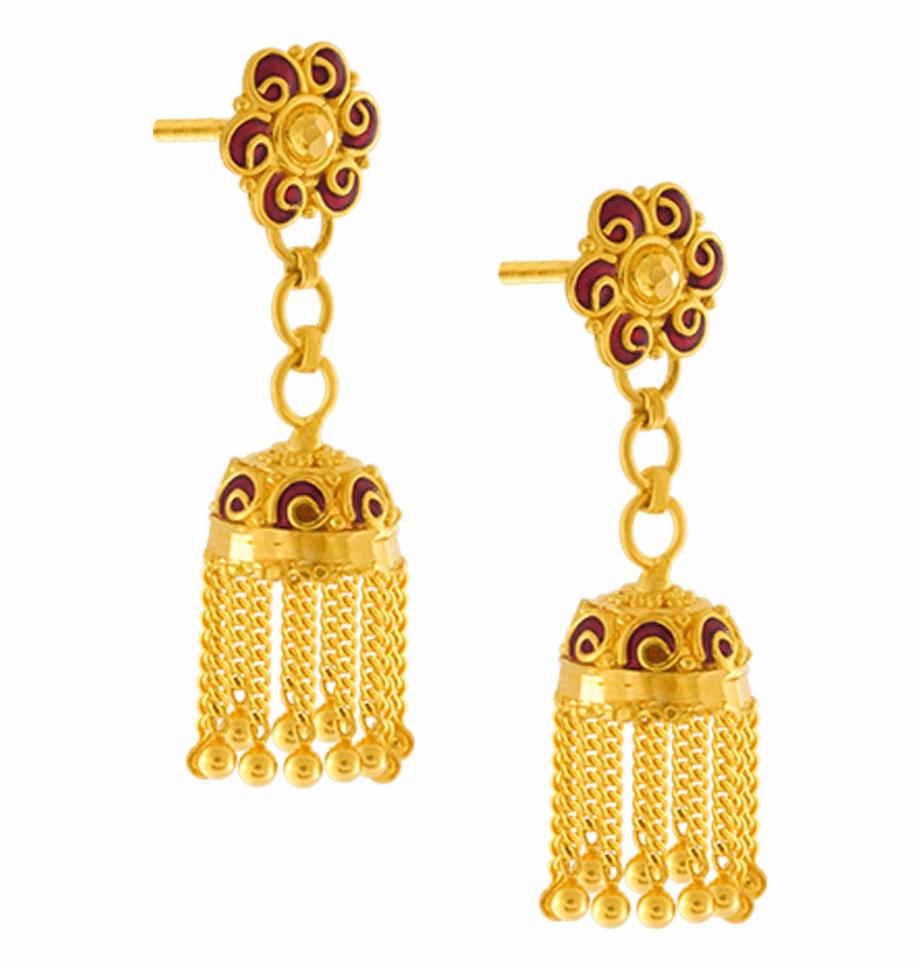 22k Yellow Gold Earrings.