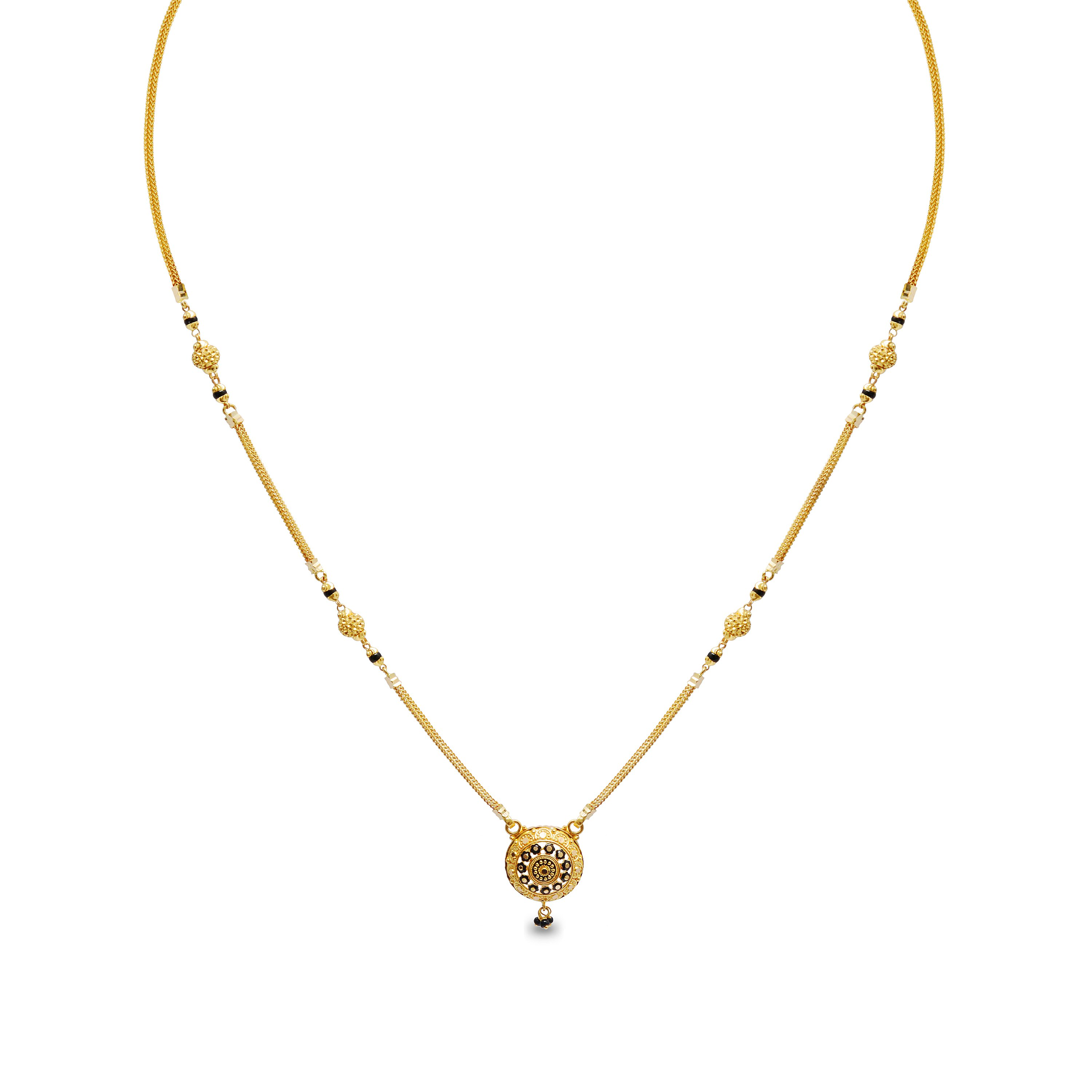 Anindita Short Fancy Gold Mangalsutra.