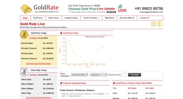 Access goldratelive.com. Live Gold Price.