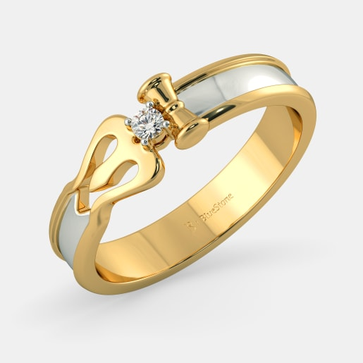 Buy 50+ Single Stone Gold Ring Designs Online in India 2019.