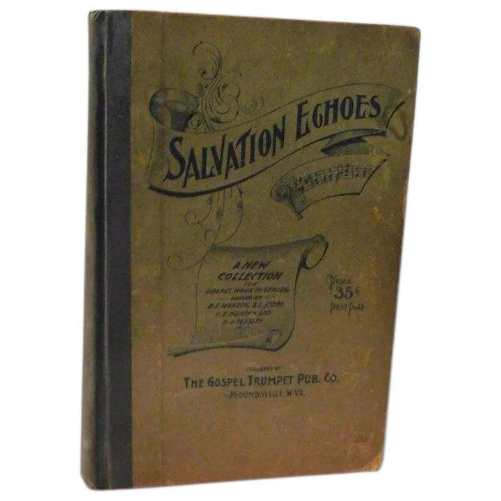 1900 Salvation Echoes New Collection Spiritual Songs Evangelistic Work and  Gospel Services in General Hymns Victorian Christian Antique Book.