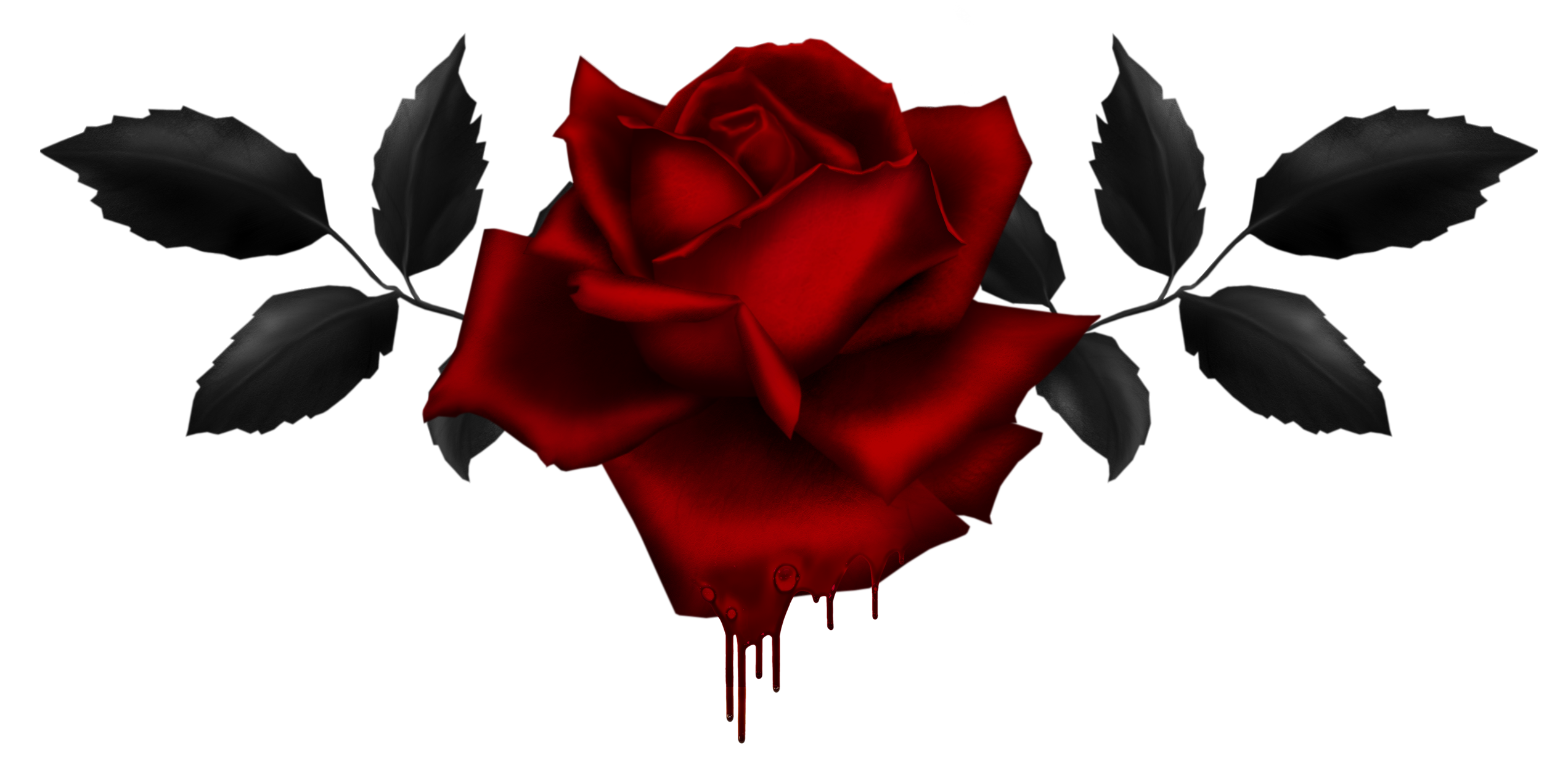 Download Gothic Rose PNG Image.