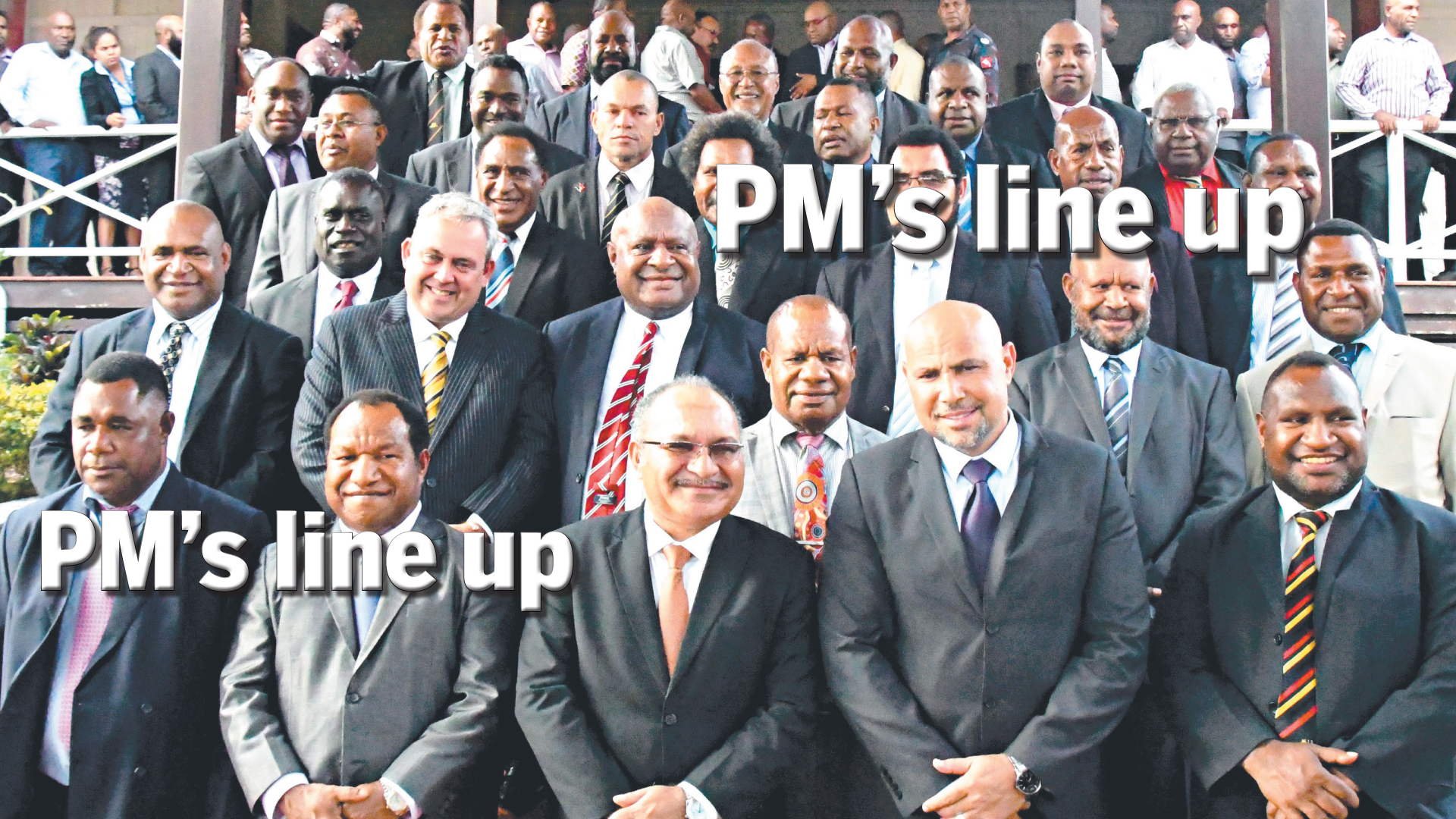 PM\'s line up.