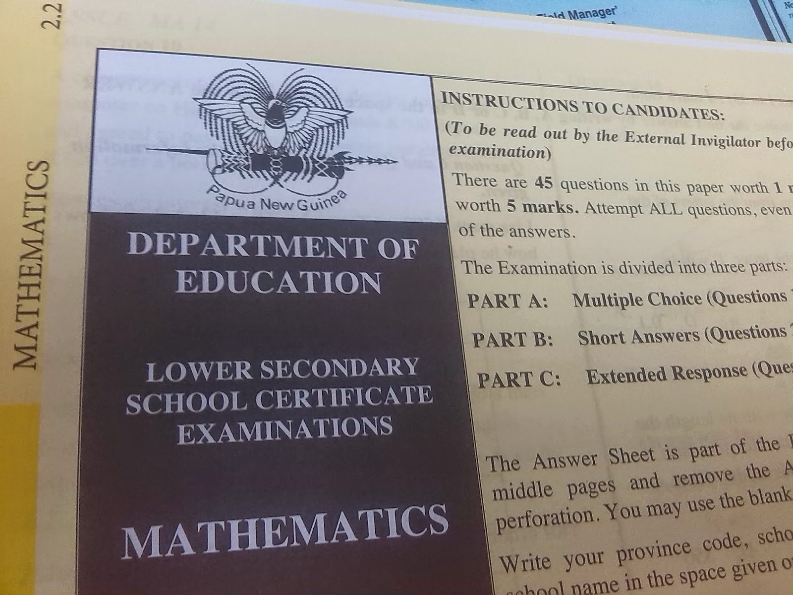 Education Department brushes out claims of Exam papers.