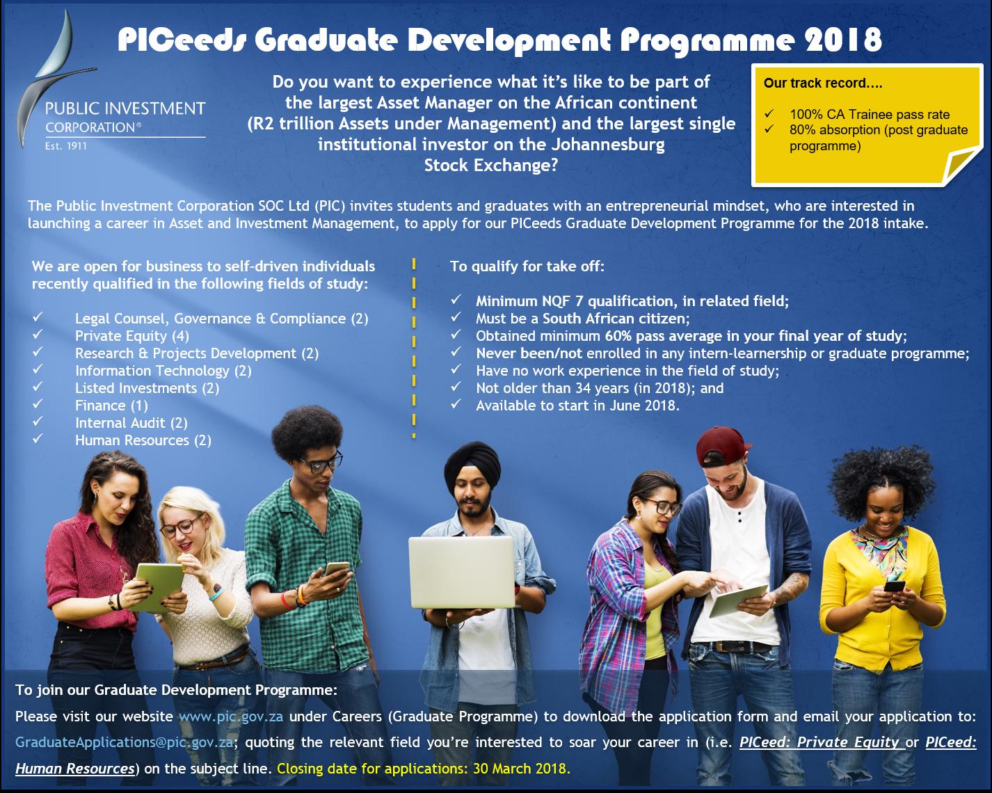 Public Investment Corporation Graduate Development Programme.