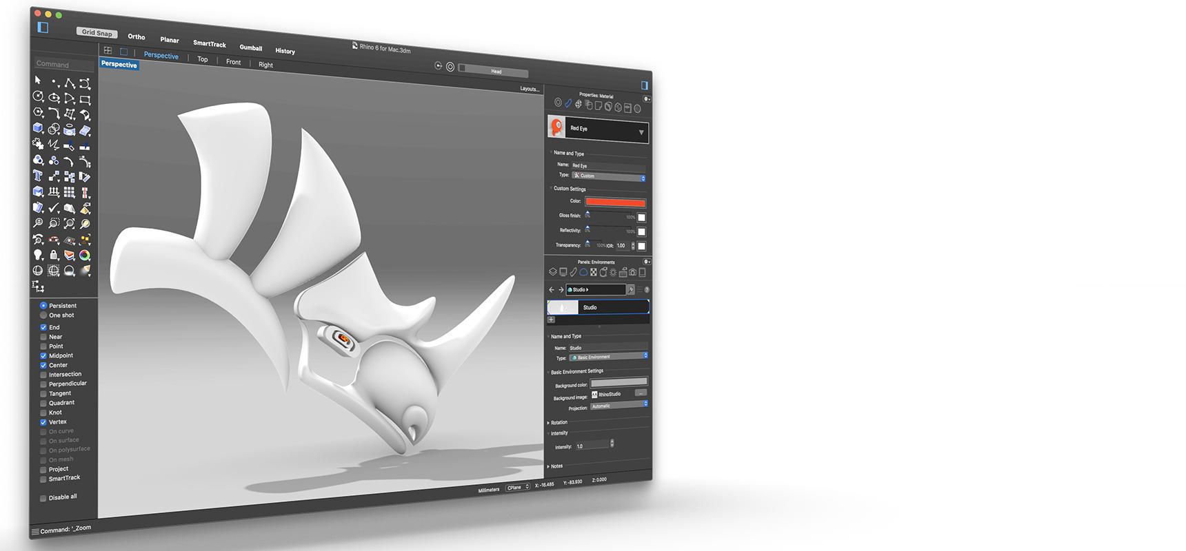 Rhino 6 for Windows and Mac.