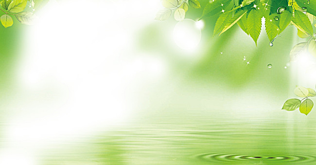 Fantastic Fresh Green Background Poster Background Template.